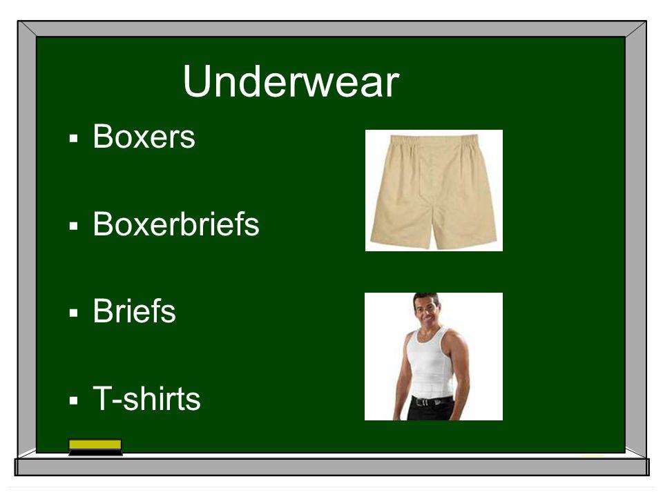 Underwear Boxers Boxerbriefs Briefs T-shirts