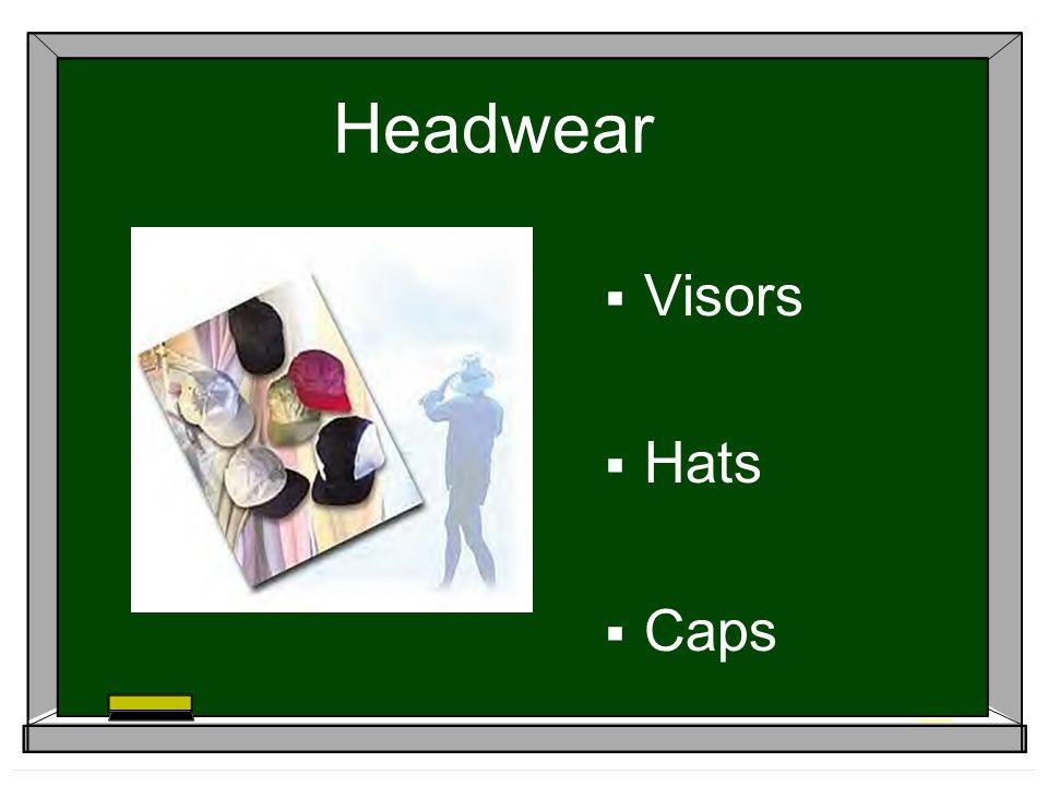 Headwear Visors Hats Caps
