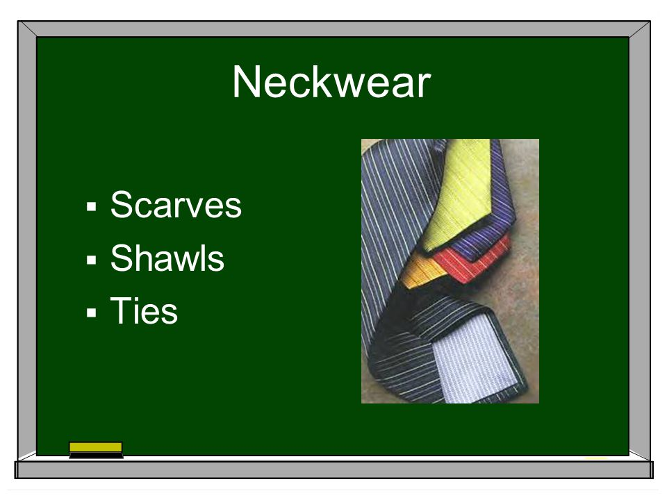 Neckwear Scarves Shawls Ties