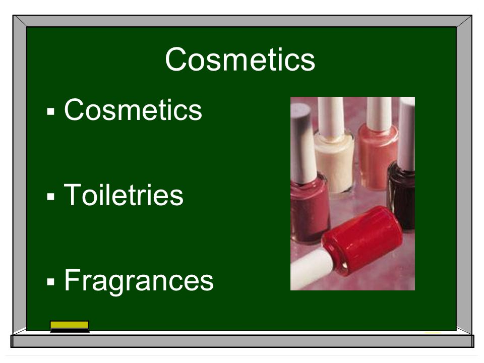 Cosmetics Toiletries Fragrances