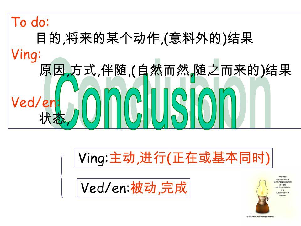 To do:,,( ) Ving:,,,(, ) Ved/en:, Ving:, ( ) Ved/en:,