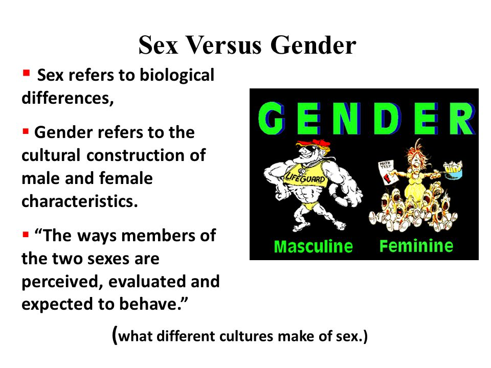 Gender Boundaries We demand that the categories of male and female be discrete since gender is culturally constructed the boundaries are conceptual rather than physical the boundaries are dynamic, eg.