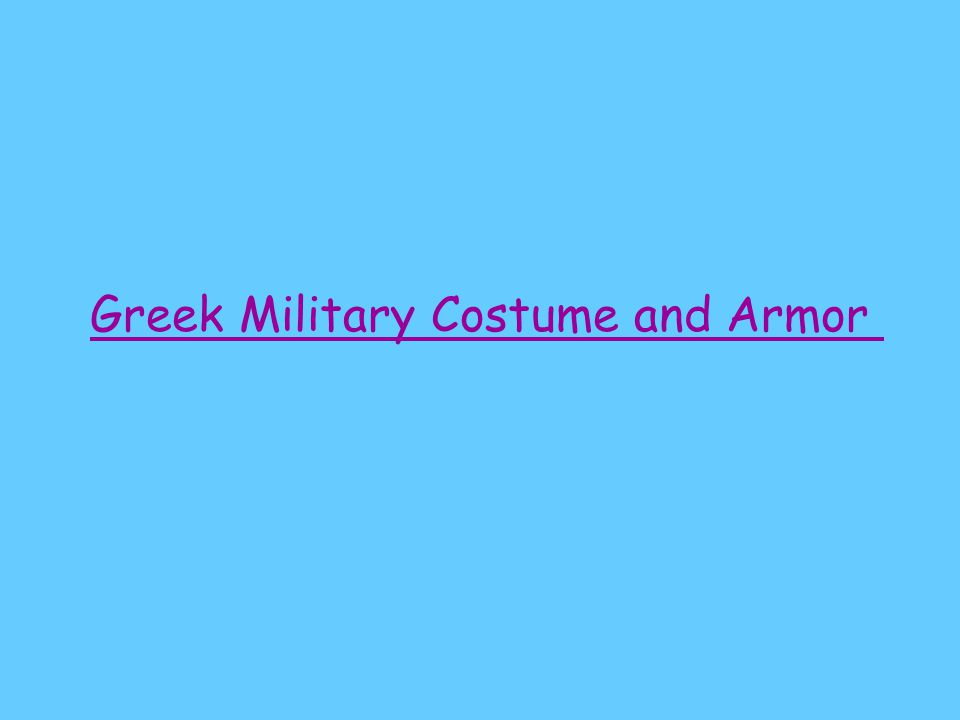 Greek Men's Costumes