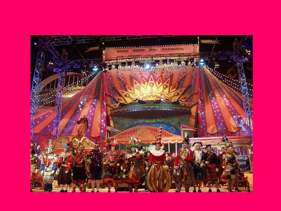 Modern Carnaval Therefore, the most popular carnavals take place in Spain, Brazil, Mexico, Venezuela and Columbia.