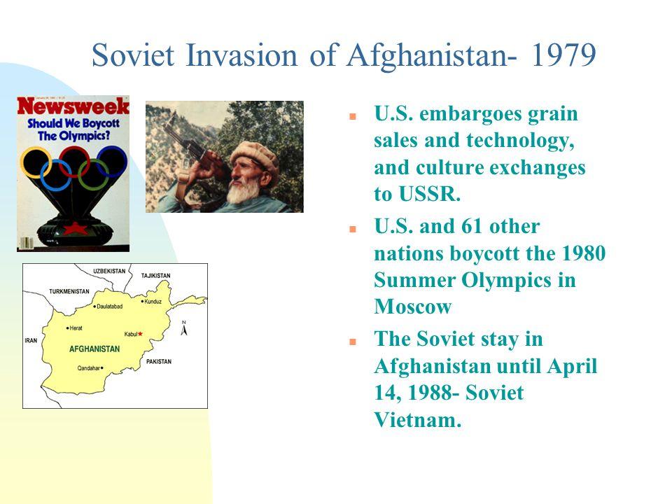 Soviet Invasion of Afghanistan- 1979 n U.S.
