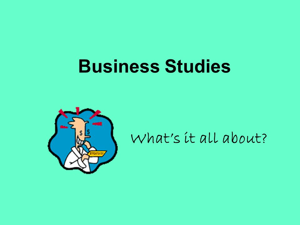 Business Studies Whats it all about