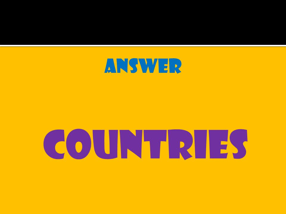 answer countries
