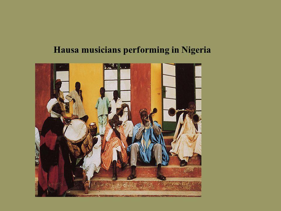 Hausa musicians performing in Nigeria