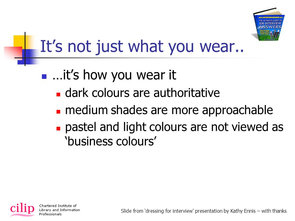 Its not just what you wear..