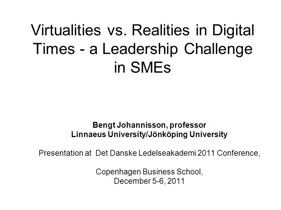 Virtualities vs.