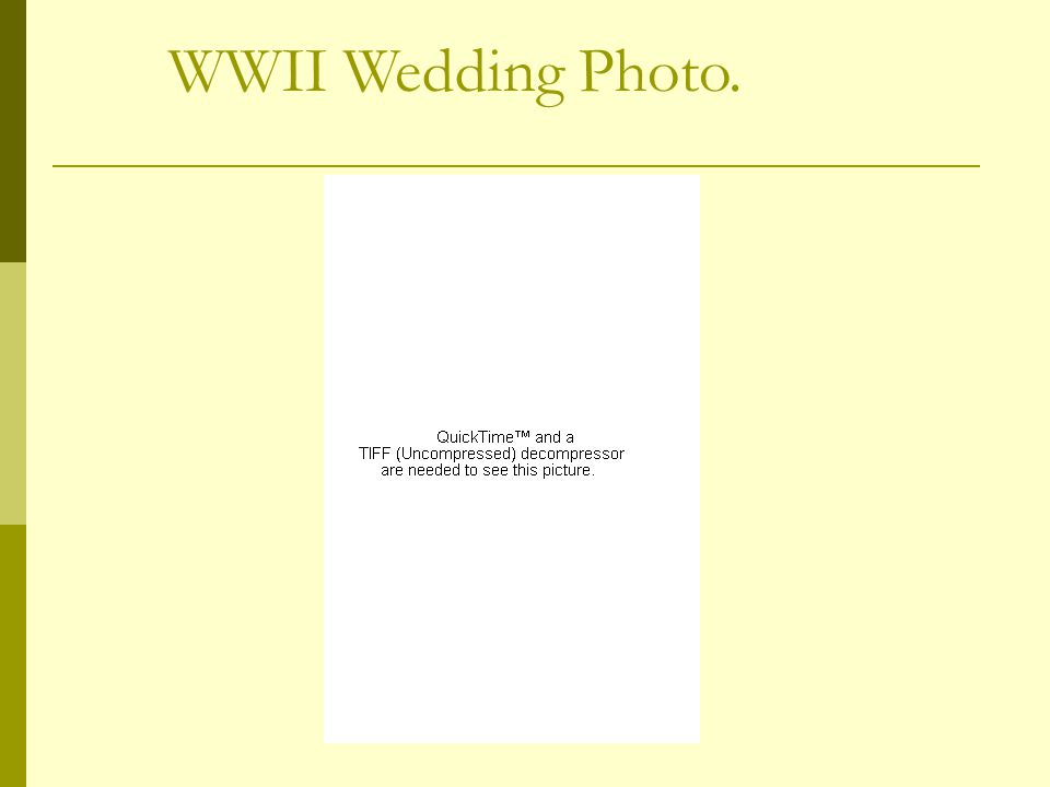 WWII Wedding Photo.