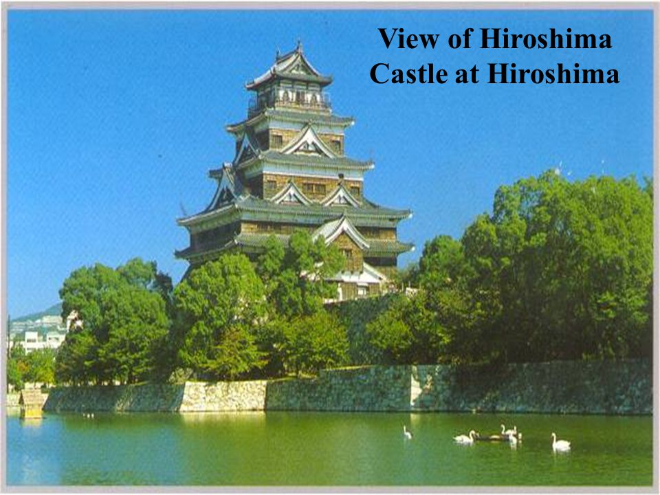 View of Hiroshima Castle at Hiroshima