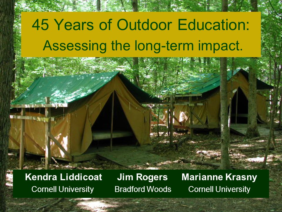 A 3-day residential outdoor education program for all 5th graders from the Martinsville, Indiana Began in 1958 as a day program.