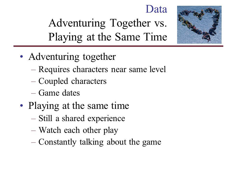 Data Adventuring Together vs.