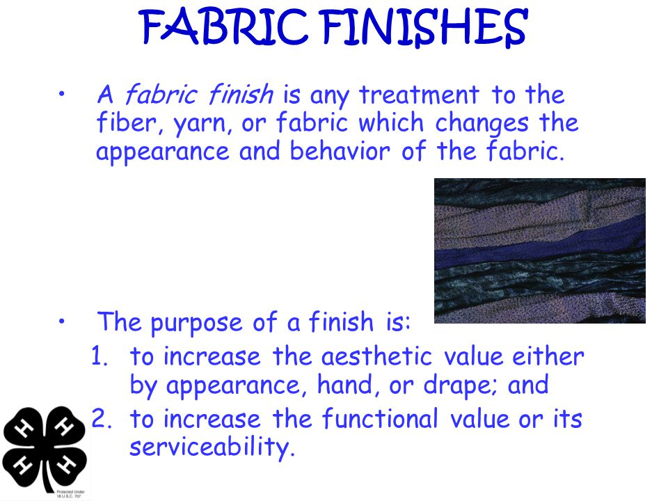 Fabric Durability and Performance Characteristics Tensile (fabric) strength – the breaking of yarns.