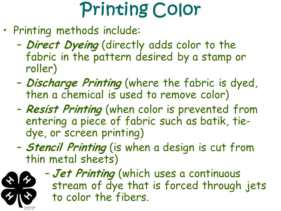 Color Characteristics Color can be introduced at many stages.
