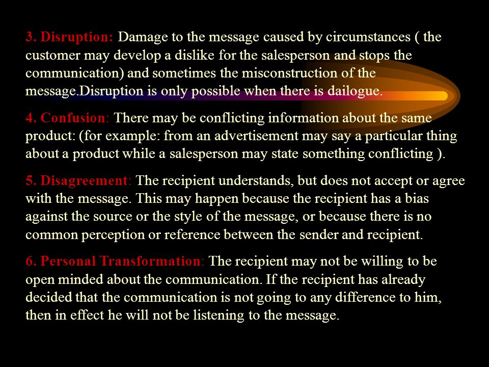 Reasons for miscommunication Miscommunication or errors in communication can result due to several different reasons.
