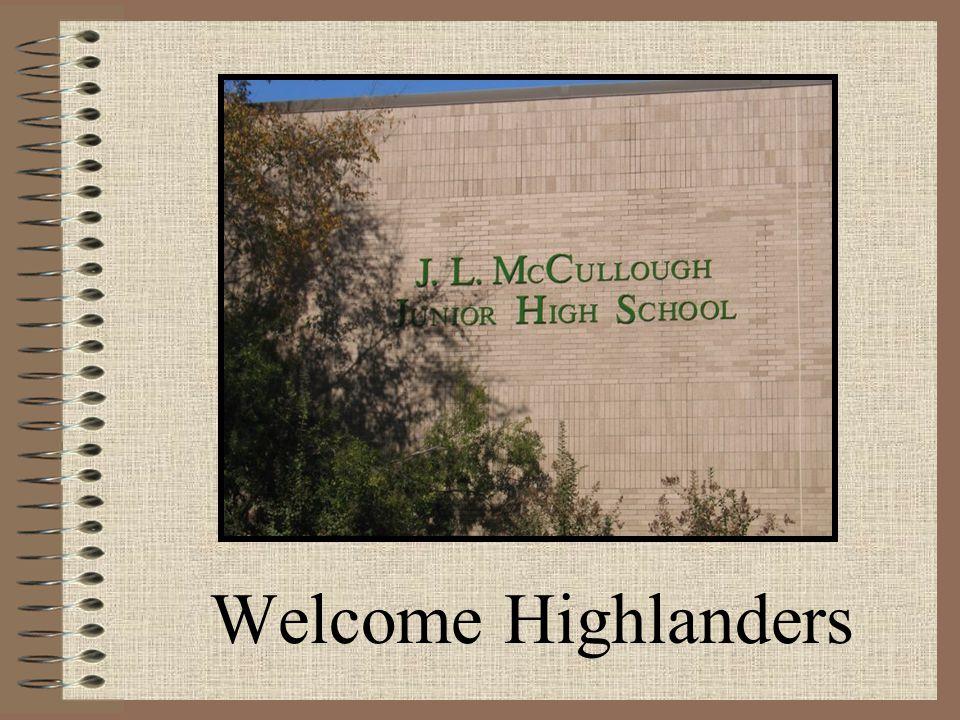 Welcome Highlanders