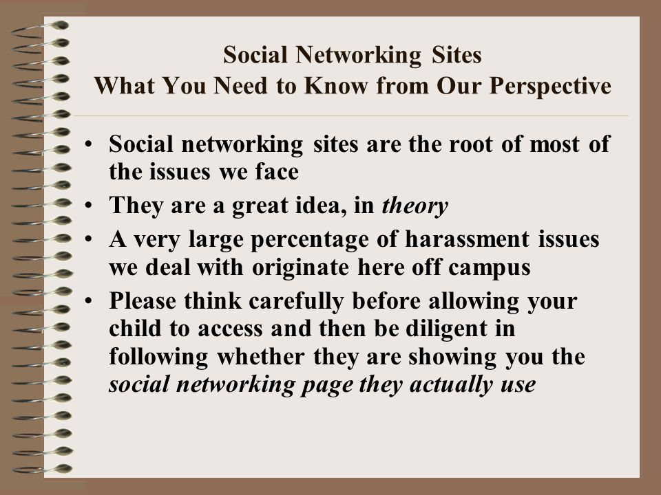 Social Networking Sites What You Need to Know from Our Perspective Social networking sites are the root of most of the issues we face They are a great