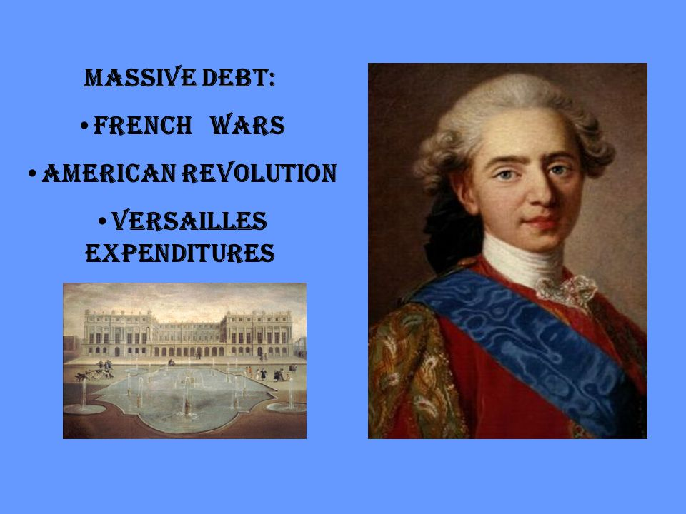 Massive Debt: French Wars American Revolution Versailles expenditures