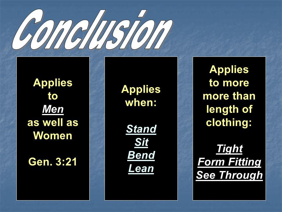 Applies to Men as well as Women Gen.