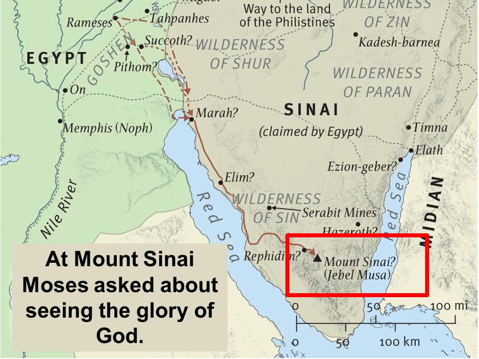At Mount Sinai Moses asked about seeing the glory of God.