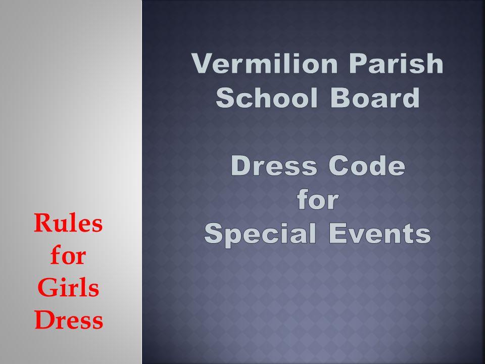 Rules for Girls Dress