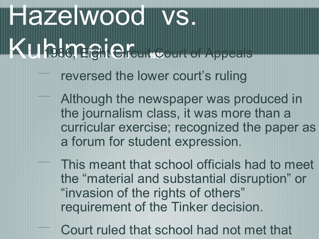 Hazelwood vs.