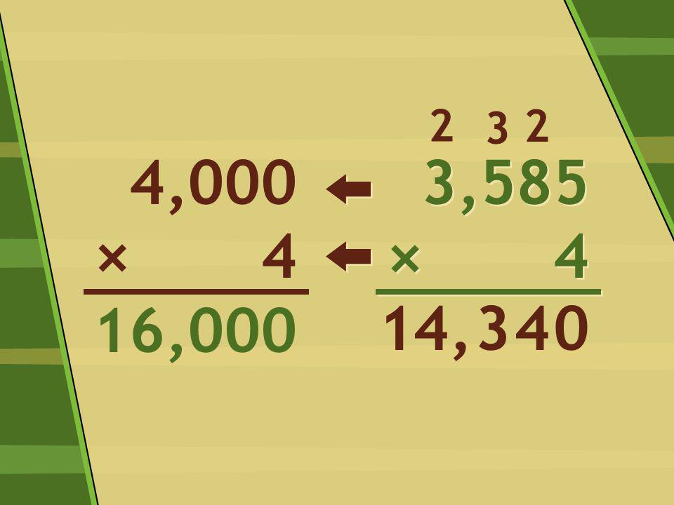 3,585 × 4 3,585 × 4 0 2 44,3 3 4,000 4 16,000 × 2 1