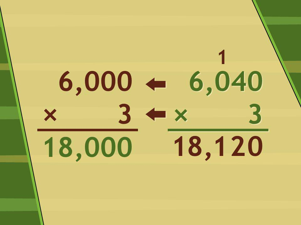 6,040 × 3 6,040 × 3 028,1 1 6,000 3 18,000 × 1