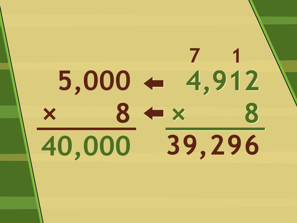 4,912 × 8 4,912 × 8 6 1 99,2 5,000 8 40,000 × 7 3