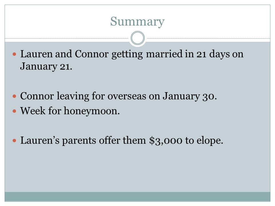 Risks Planning the wedding versus eloping.