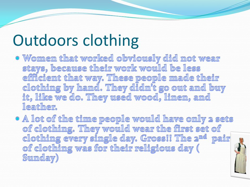 Outdoors clothing