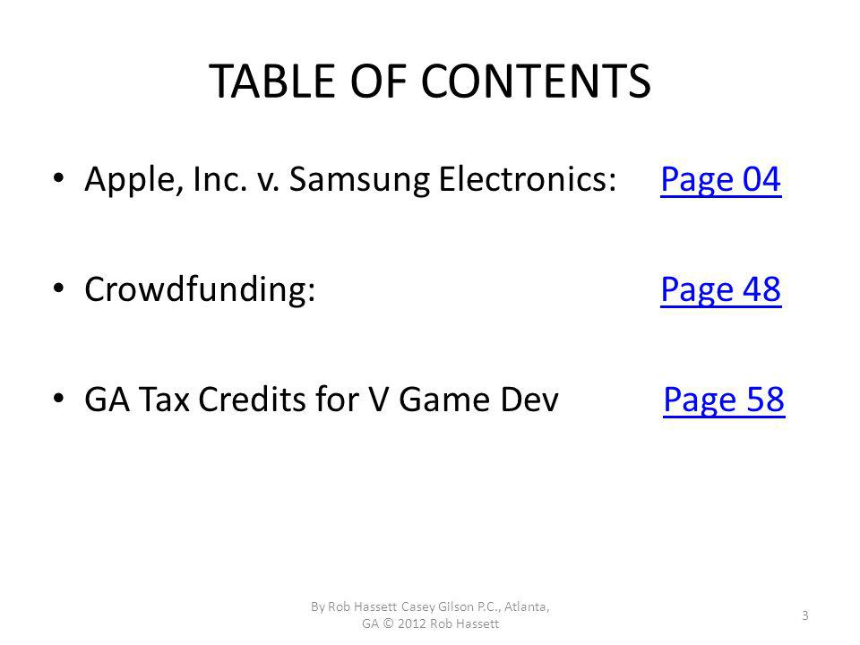 TABLE OF CONTENTS Apple, Inc.v.
