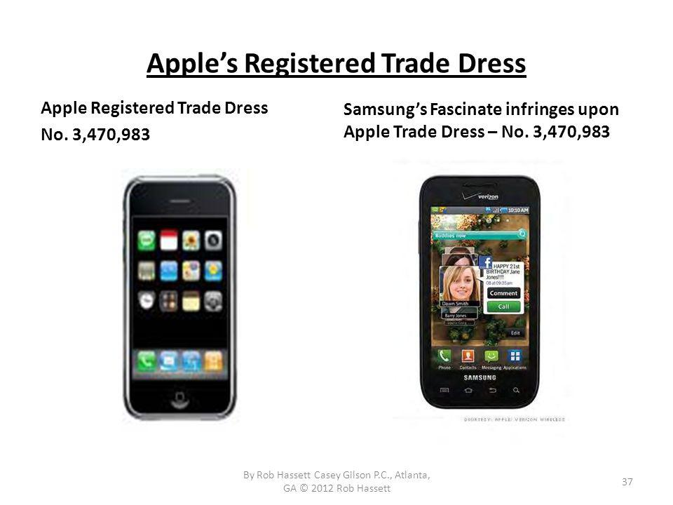 Apples Registered Trade Dress Apple Registered Trade Dress No.