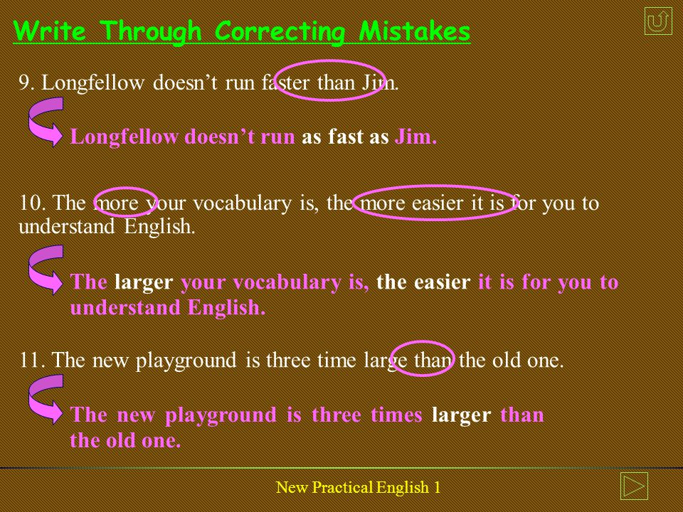 New Practical English 1 Write Through Correcting Mistakes 6.