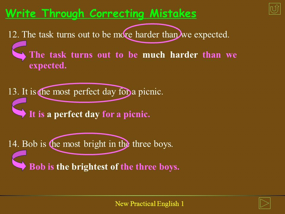 New Practical English 1 Write Through Correcting Mistakes 9.