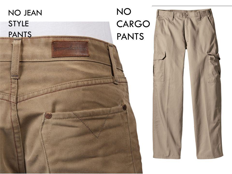 NO CARGO PANTS