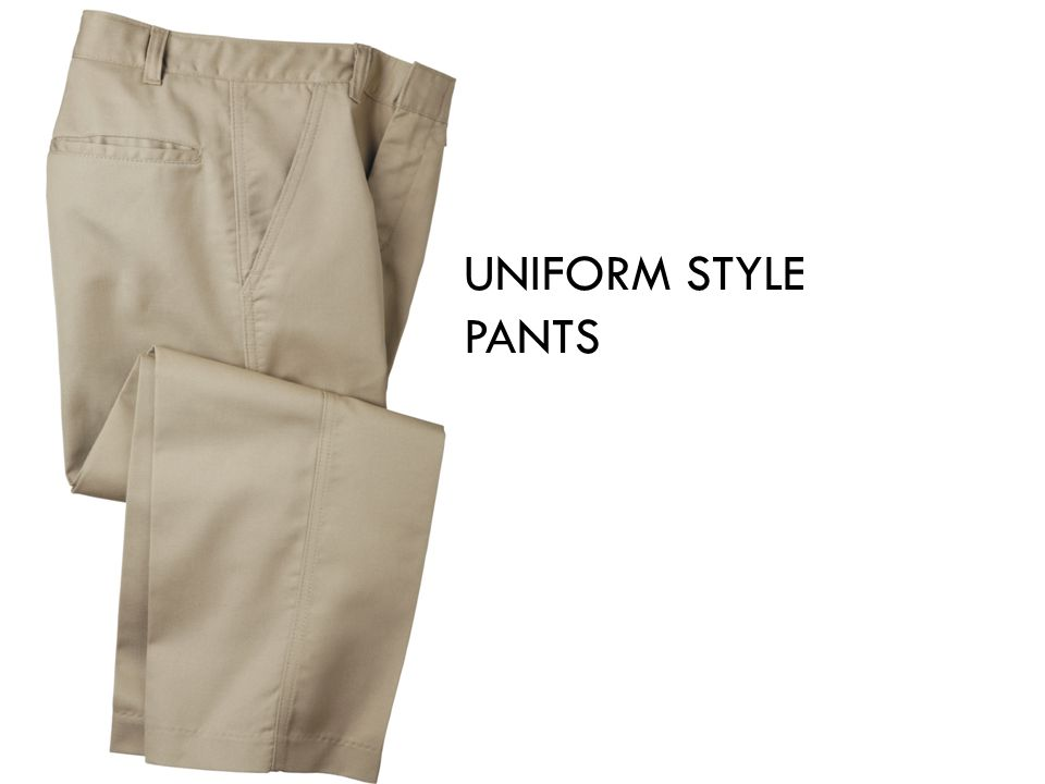 UNIFORM STYLE PANTS