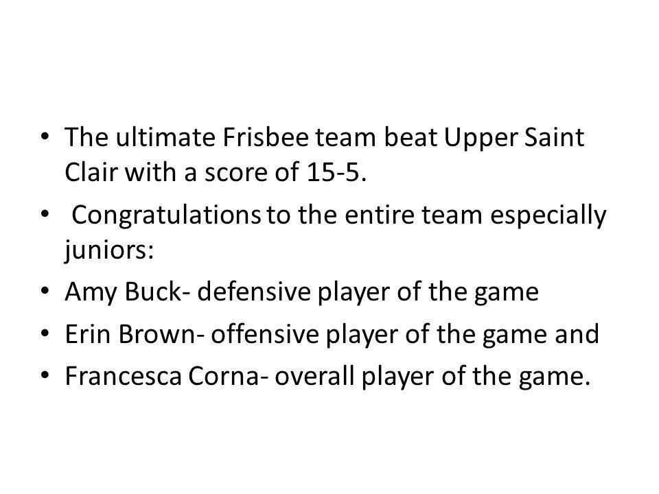 Congratulations, Softball Team The Oakland Catholic Eagles won their first game against Allderdice.