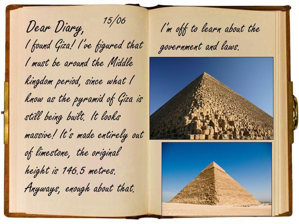 Dear Diary, I found Giza.