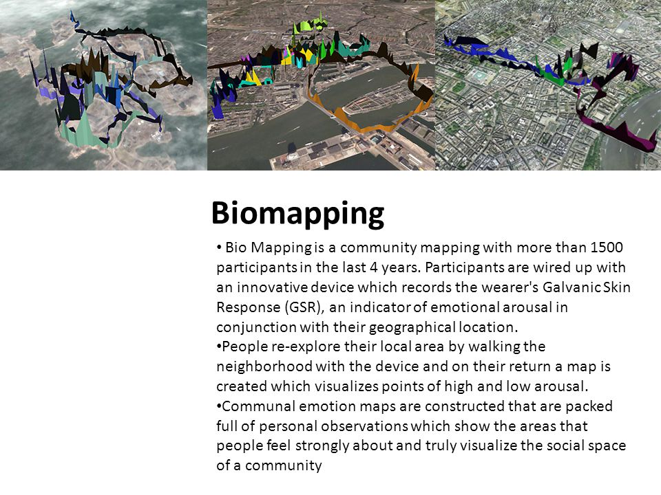 Biomapping Bio Mapping is a community mapping with more than 1500 participants in the last 4 years.