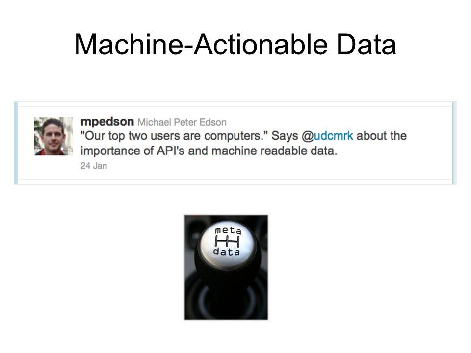 Machine-Actionable Data
