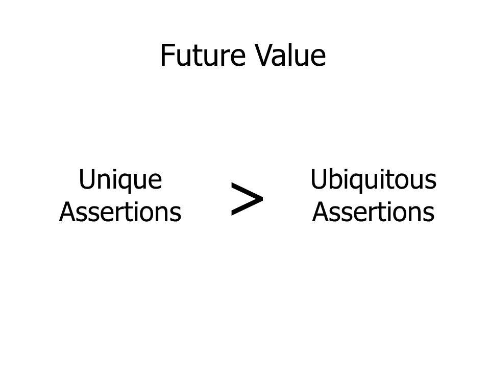 Unique Assertions > Ubiquitous Assertions Future Value