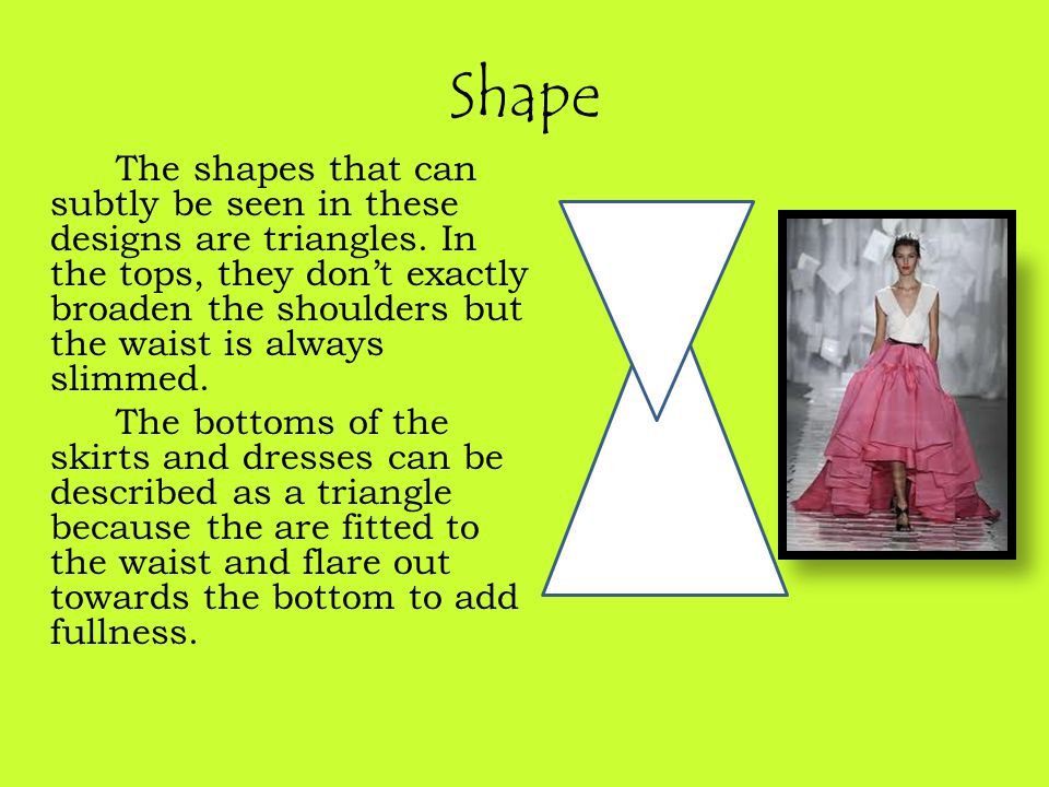Shape The shapes that can subtly be seen in these designs are triangles.