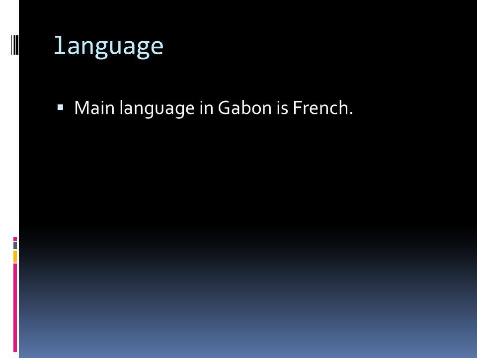 language Main language in Gabon is French.