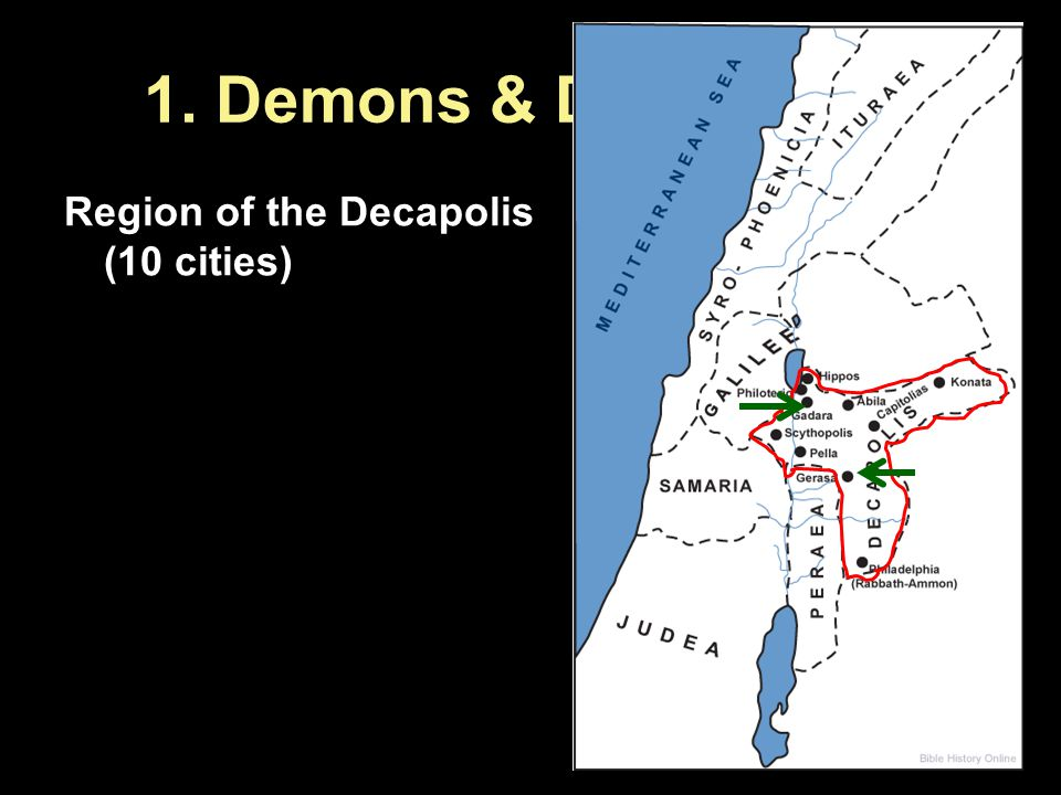 1. Demons & Destruction Region of the Decapolis (10 cities)