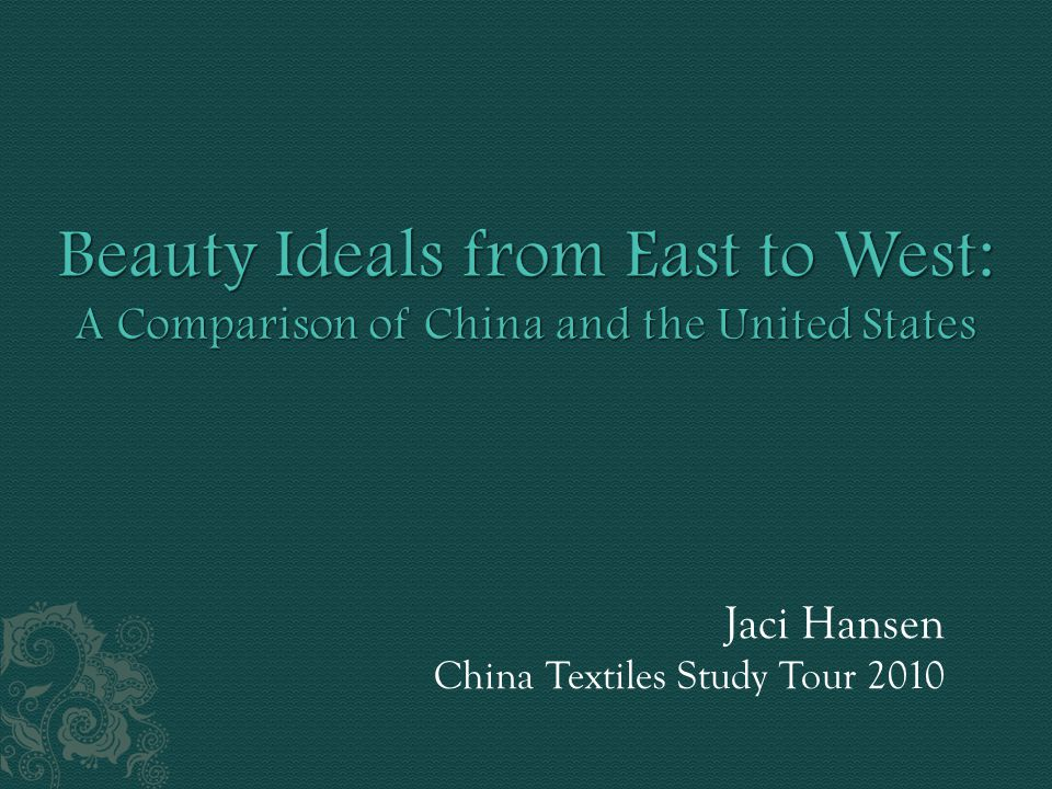 Jaci Hansen China Textiles Study Tour 2010