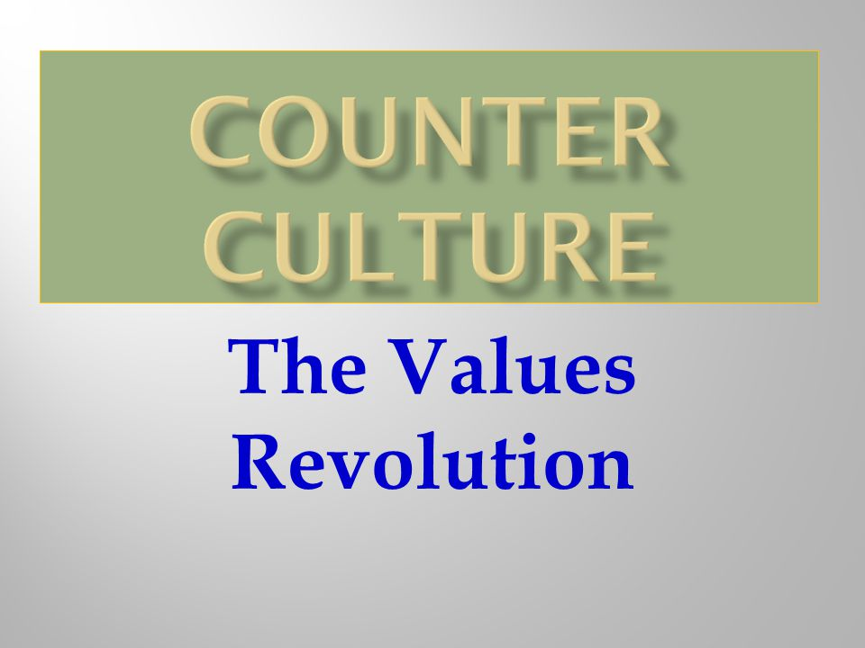 The Values Revolution