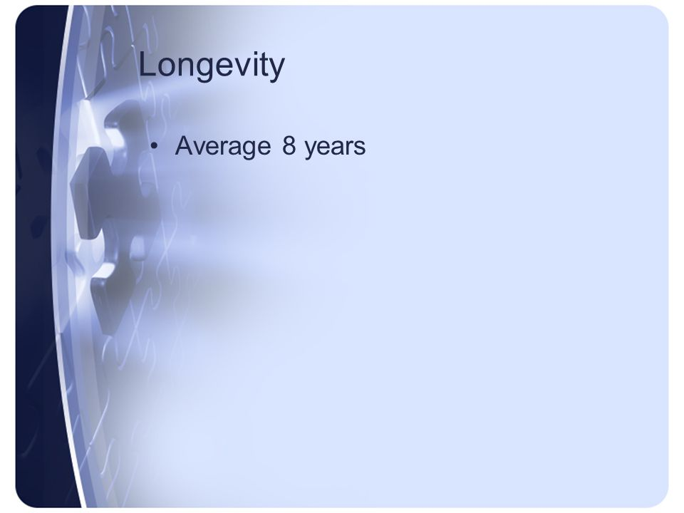 Longevity Average 8 years